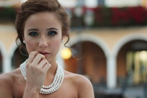 pearls and makeup