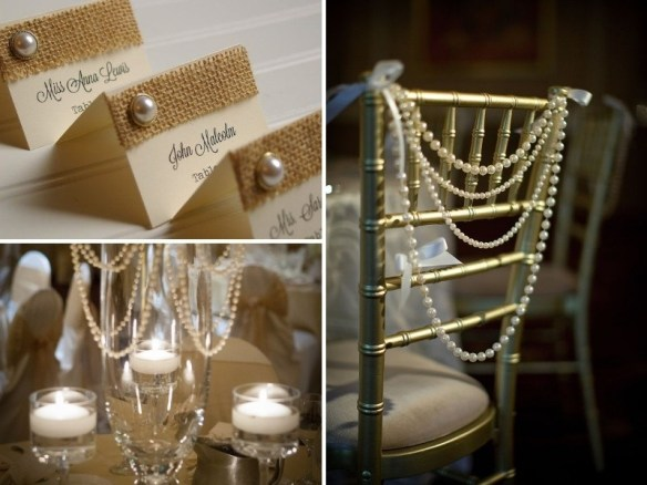 using pearls for wedding decor