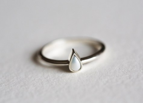 dainty pearl ring