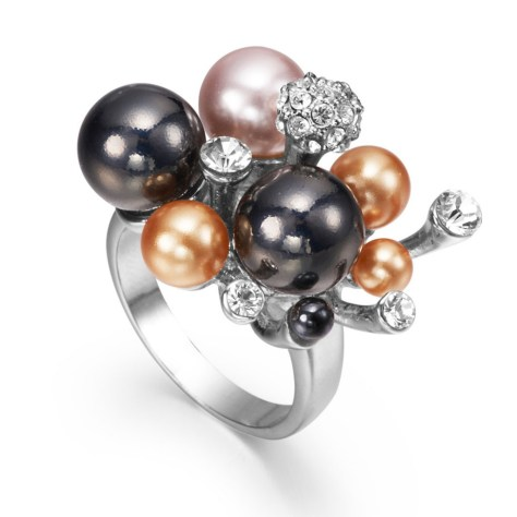 multicolored pearl ring