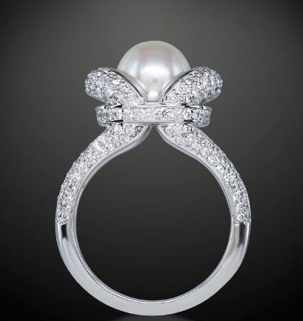 royal wedding pearl ring - Pearl Wedding Ring