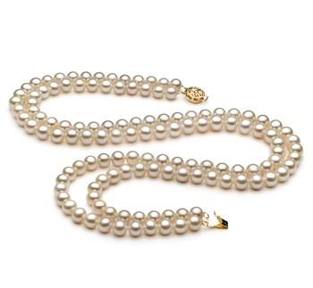 White multi strand pearl necklace