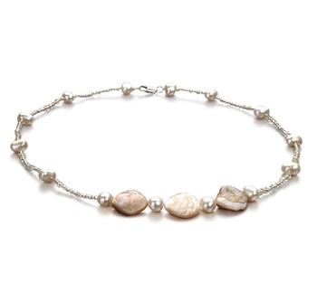 Tragen Sie eine Perlenkette