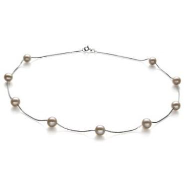 silver chain contemporary pearl necklace designs