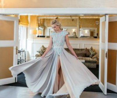 pearl wedding dress