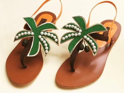 pearl sandals for honeymoon