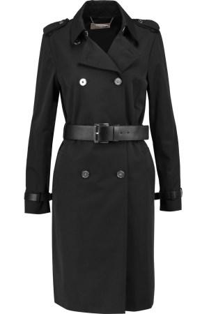 black clothing trench coat