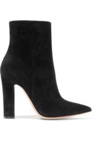 Schwarze Wildlederknöchel Stiefel