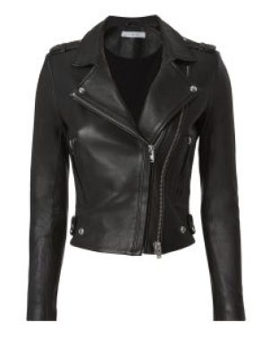 Schwarze Kleidung Artikel schwarzen Lederjacke Biker Stil