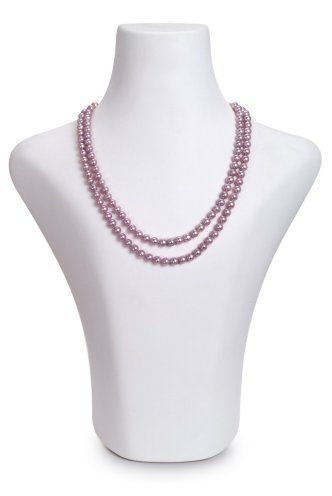double strand pearl necklace in lavender