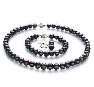 black pearls - black accessories