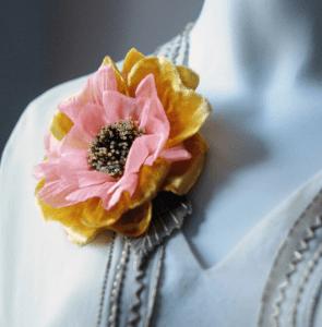 handmade flower brooch