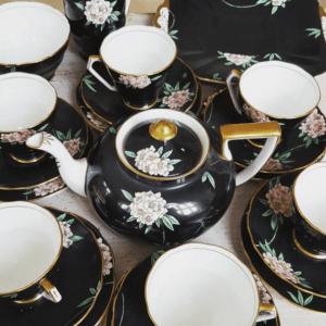 tea party porcelain cups