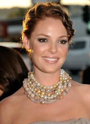 katherine heigl chunky pearl necklace
