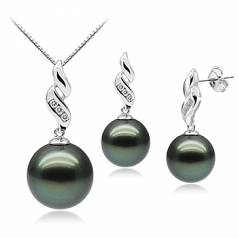 black pearl earrings with diamonds