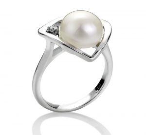 Weiße Perlenringe für Frauen