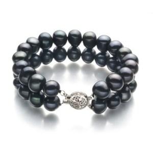 black double strand bracelet