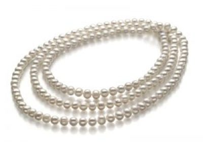 large strand white pearl necklace