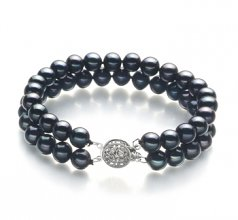 double black pearl bracelet