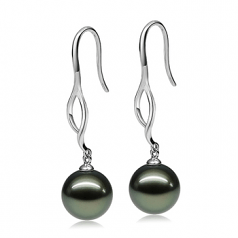 big black pearl earrings