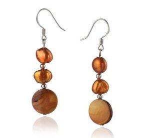 chocolate pearl earrings