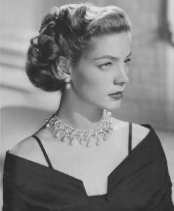 lauren bacall style pearl necklace
