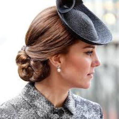 Duchess of Cambridge wearing pearls