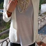 layering pearl necklaces
