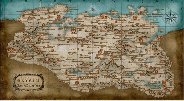 Road Map The Elder Scrolls Skyrim