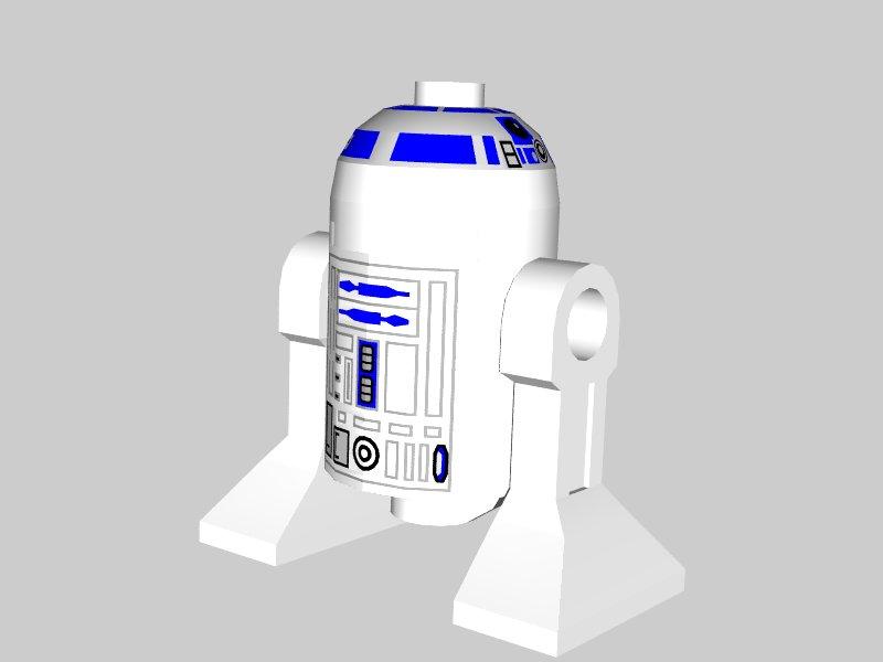 r2 d2 3d model details