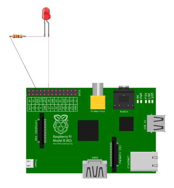 Circuit pour contrôler l'allumage d'une diode LED.