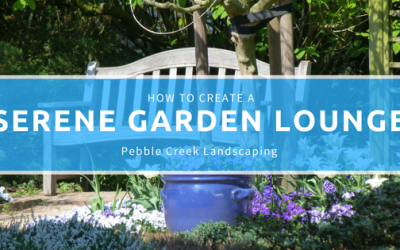 How to Create a Serene Garden Lounge