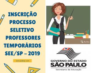 33eb4fd859 Inscrição e Realização de Processo Seletivo Simplificado para Contratação  Temporária de Professores – 2019