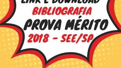 Photo of Bibliografia Completa Prova de Mérito – Educação SEE/SP 2018