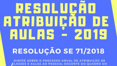 Foto de Resolução da Atribuição de Aulas 2019 – Professores SEE/SP – Res. 71/2018