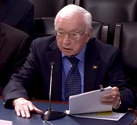 Captain Joe McBride at Tuesday's hearing.