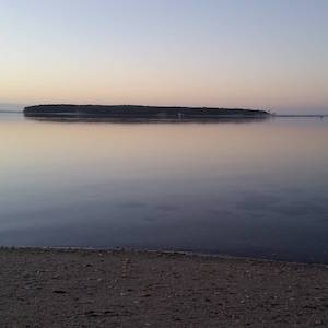 Oct. 13, 6:45 a.m., Robins Island from New Suffolk