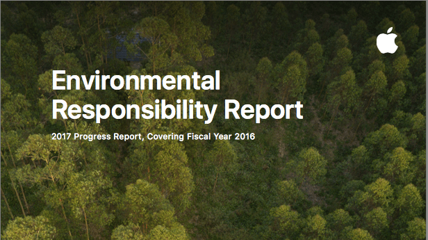 Apple environment climate change