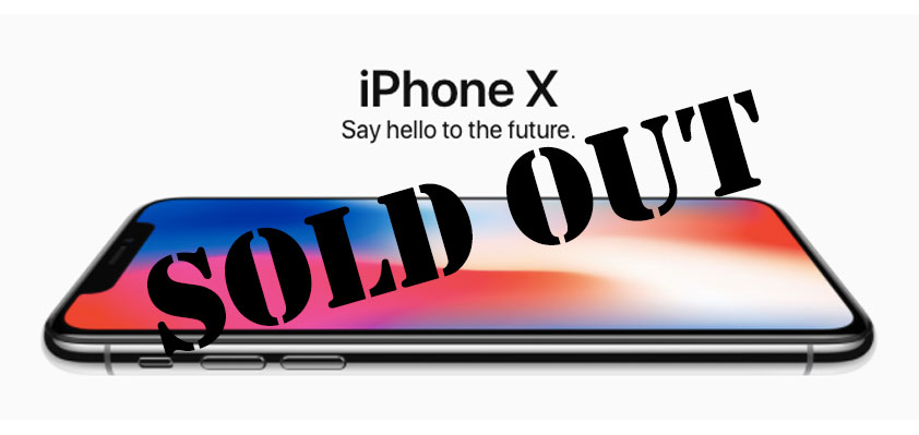 iPhone X sold out