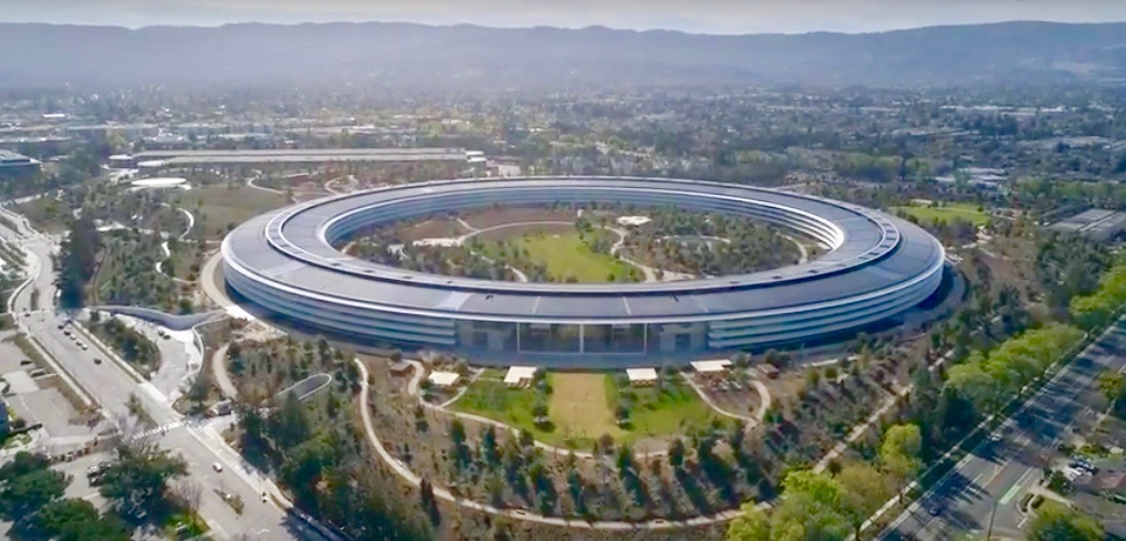 apple park february drone flyby
