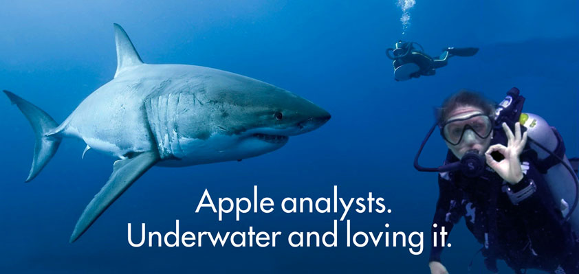 apple analysts underwater 275.15 david thall
