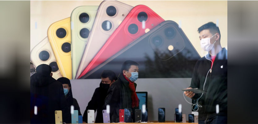 Apple Reuters China iPhone March