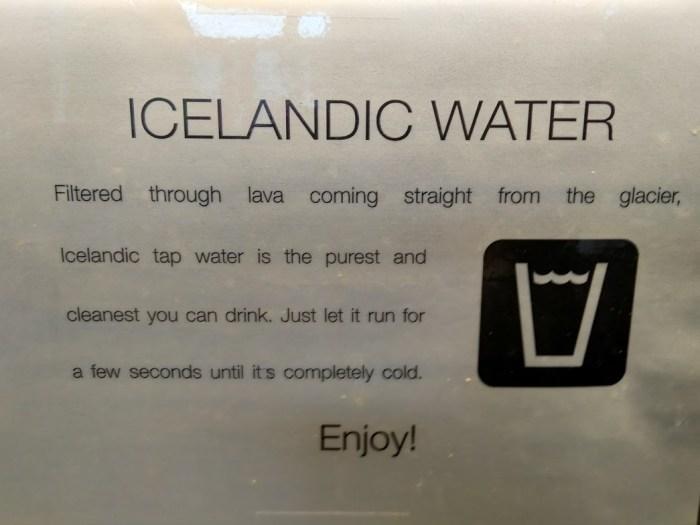 Islandia agua