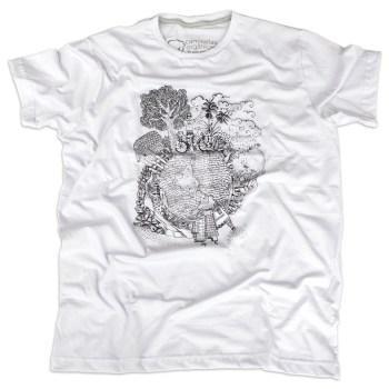 Camiseta Volta ao Mundo Masculina Branca