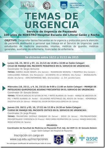 Temas de Urgencia 2do semestre 11-12/2015