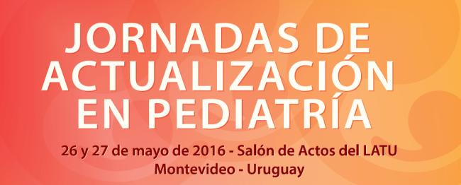 JORNADAS DE ACTUALIZACION EN PEDIATRIA SUP 26 Y 27 DE MAYO 2016.