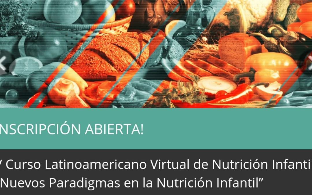 V CURSO LATINOAMERICANO VIRTUAL DE NUTRICION INFANTIL