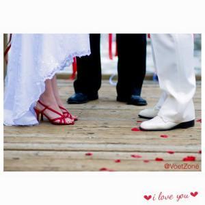 Wedding feet arrangement