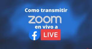 como transmitir zoom a facebook live