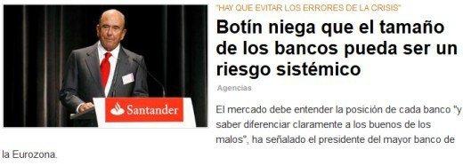 Emilio Botín niega